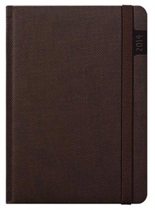 Diář 2014 Janus hnědý:diář denní A5 - - | Booksquad.ink