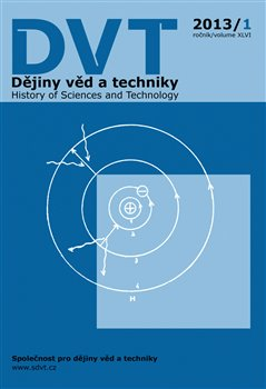 Obálka titulu Dějiny věd a techniky 1/2013