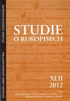 Obálka titulu Studie o rukopisech 42