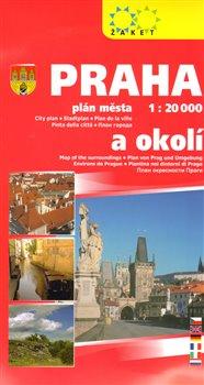 Praha plán města 1 : 20 000 a okolí 2014