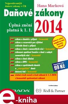 Obálka titulu Daňové zákony 2014