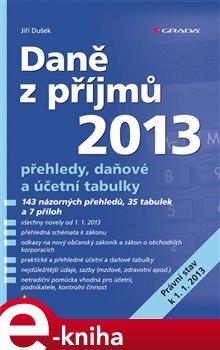 Obálka titulu Daně z příjmů 2013