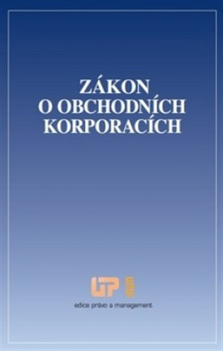 Zákon o obchodních korporacích - - | Booksquad.ink
