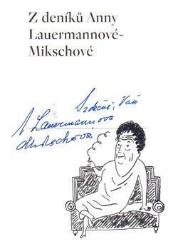 Obálka titulu Z deníků Anny Lauermannové-Mikschové