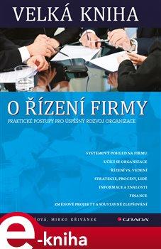 Obálka titulu Velká kniha o řízení firmy