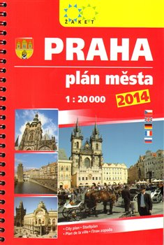 Praha plán města 2014 - 1:20 000