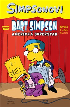 Obálka titulu Bart Simpson 12 (8/2014): Americká superstar