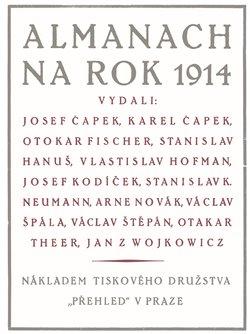 Obálka titulu Almanach na rok 1914