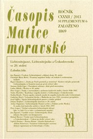 Časopis Matice moravské supplementum 6/2013