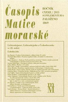 Obálka titulu Časopis Matice moravské supplementum 6/2013