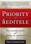 Obálka knihy Priority ředitele