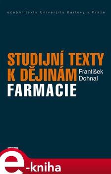 Obálka titulu Studijní texty k dějinám farmacie