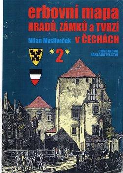Obálka titulu Erbovní mapa hradů, zámků a tvrzí v Čechách 2