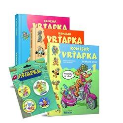 Obálka titulu Komisař Vrťapka - Sebrané spisy 1-3 (komplet 3 knihy + odznáčky)