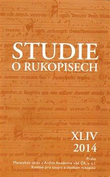 Obálka titulu Studie o rukopisech XLIV.