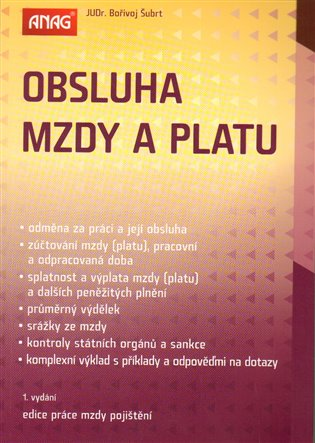 Obsluha mzdy a platu - Bořivoj Šubrt | Booksquad.ink
