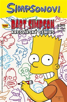 Obálka titulu Bart Simpson 8/2015: Kreslířský génius