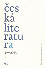 Česká literatura 3/2015