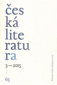 Obálka titulu Česká literatura 3/2015