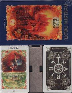 Obálka titulu Poselství Tarotu + vykládací karty