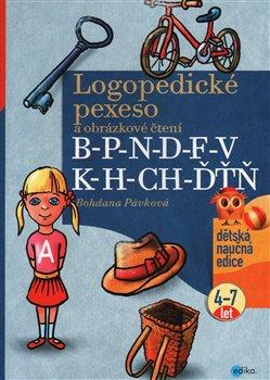 Obálka titulu Logopedické pexeso a obrázkové čtení B-P-N-D-F-V-K-H-CH-ĎŤŇ