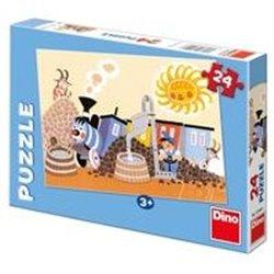 Obálka titulu Puzzle Veselá mašinka v depu / 24 dílků /