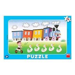 Obálka titulu Puzzle Veselá mašinka 15 dílků