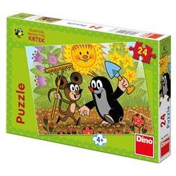 Puzzle Krtek a Myška 24 dílků - Zdeněk Miller, Kateřina Millerová