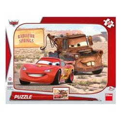 Puzzle Cars: Blesk & Burák 12 dílků