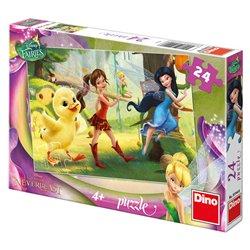 Obálka titulu Puzzle Fairies a kuřátko 24 dílků