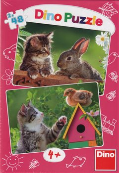 Obálka titulu Puzzle Koťátko a kamarádi 96 dílků