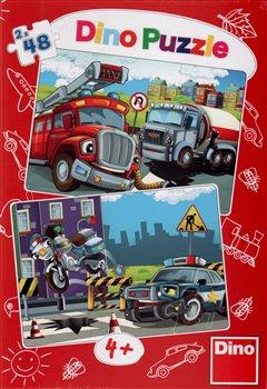 Obálka titulu Puzzle Hasiči a policie 96 dílků