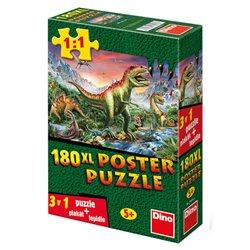 Obálka titulu Puzzle Dinosauři 180 dílků