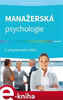 Obálka titulu Manažerská psychologie
