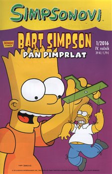 Obálka titulu Bart Simpson 1/2016: Pán pimprlat