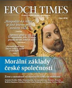 Obálka titulu Epoch Times. Morální základy české společnosti
