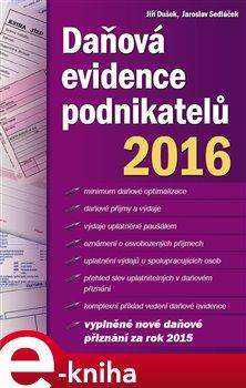 Obálka titulu Daňová evidence podnikatelů 2016