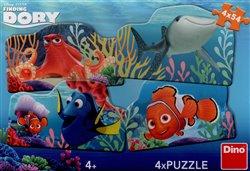 Obálka titulu Puzzle Dory a přátelé /4x54 dílků/