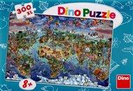 Puzzle Ilustrovaná mapa světa /300XL/