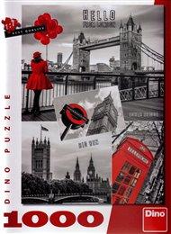 Puzzle Londýn- koláž /1000 dílků/