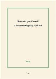 Ročenka pro filosofii a fenomenologický výzkum 2015