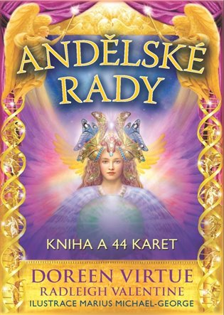 Andělské rady:Kniha a 44 karet - Radleigh Valentine, | Booksquad.ink