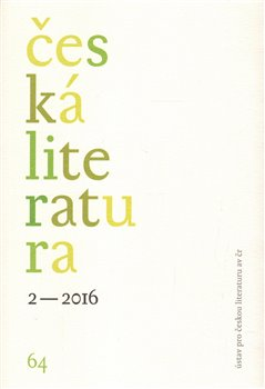 Obálka titulu Česká literatura 2/2016