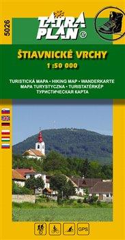 Štiavnické vrchy. 1:50 000 Turistická a cykloturistická mapa