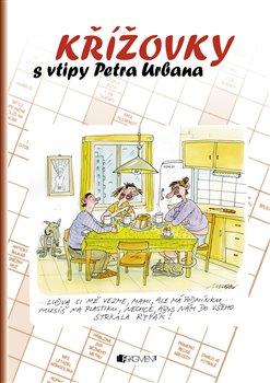 Obálka titulu Křížovky s vtipy Petra Urbana - hnědá