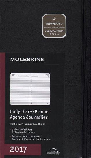 Diář 2017 denní tvrdý černý /13 x 21/:Moleskine - - | Booksquad.ink