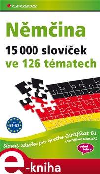 Obálka titulu Němčina 15 000 slovíček ve 126 tématech