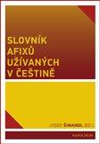 Slovník afixů užívaných v češtině - obálka