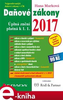 Obálka titulu Daňové zákony 2017