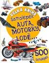 Obálka knihy Velká kniha samolepek - Auta, motorky, lodě...